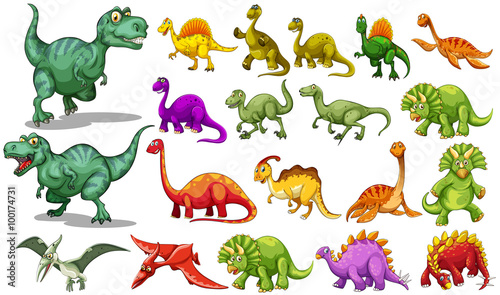 Foto Different kind of dinosaurs