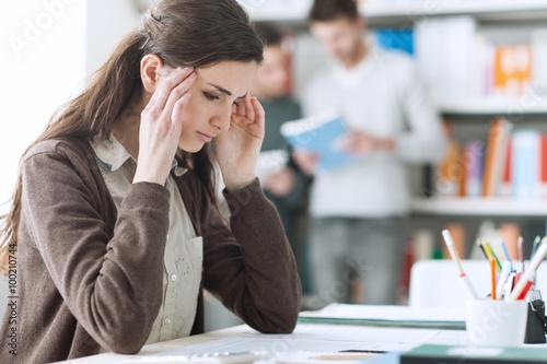 Fotografia Young student with headache