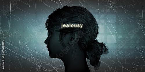 Photo Woman Facing Jealousy