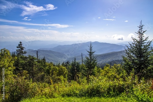 Tableau sur Toile View from the summit of Clingmans Dome in the Great Smoky Mountains