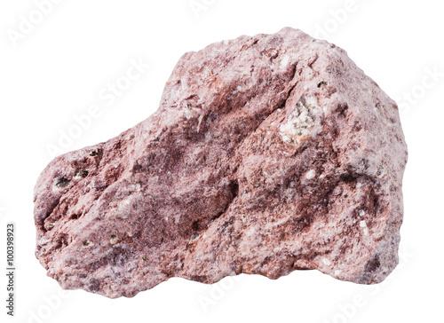 Photo Tuff (ash-tuff) mineral stone isolated on white
