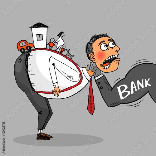 Debtor must pay the loan. Fototapete