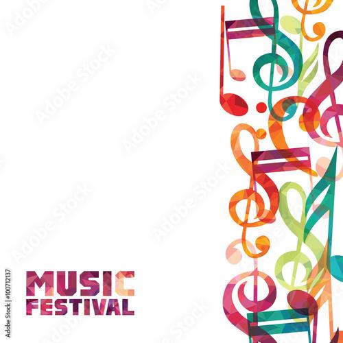 Photo Music background. Vector illustration