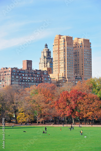 Fotografia New York City Central Park at autumn