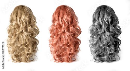 Obraz na płótnie Wig of long  hair
