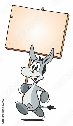 Fotografie, Tablou Running Donkey with Board
