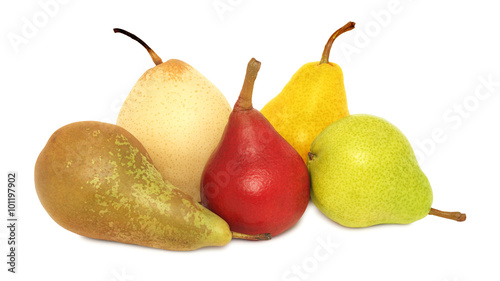 Pears of different varieties (isolated)