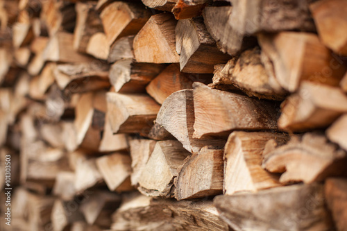 Fotografia, Obraz background of Heap firewood stack, natural wood