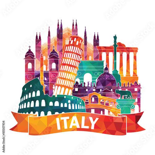 Obraz na plátne Italy. Vector illustration