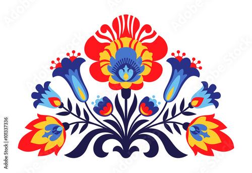 Fototapeta Polish folk inspired flowers