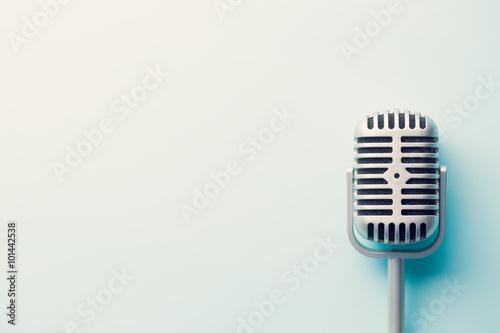 Fotografie, Obraz Vintage stříbrné mikrofon