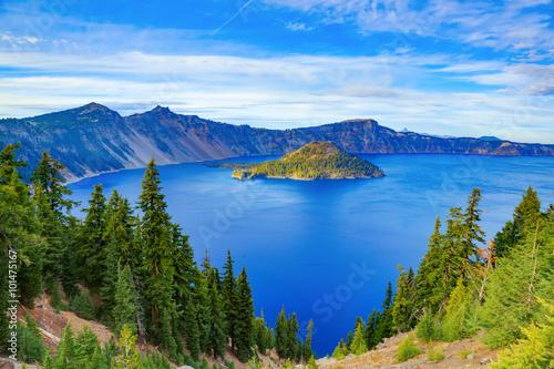 Valokuvatapetti Crater lake view