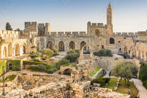 Leinwand Poster Turm von David in Jerusalem, Israel.