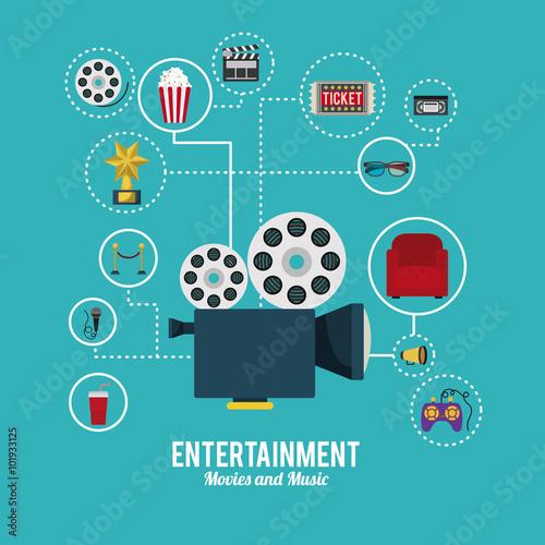 Cuadros en Lienzo entertainment icons design