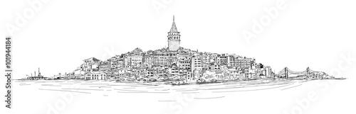 Fotografia, Obraz GALATA TOWER - ISTANBUL
