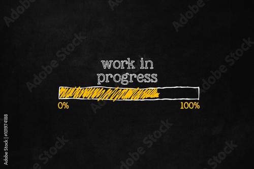 Fototapeta Work in progress loading bar