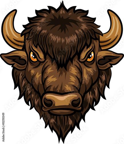 Fotografia Illustration of head bison mascot