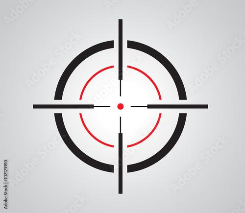 Obraz na plátně Crosshair, reticle, viewfinder, target graphics