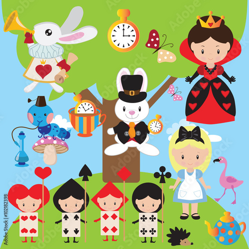 Photo Alice in Wonderland vector illustration