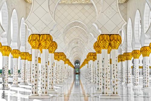 Sheikh Zayed Mosque, Abu Dhabi, Zjednoczone Emiraty Arabskie Fototapeta