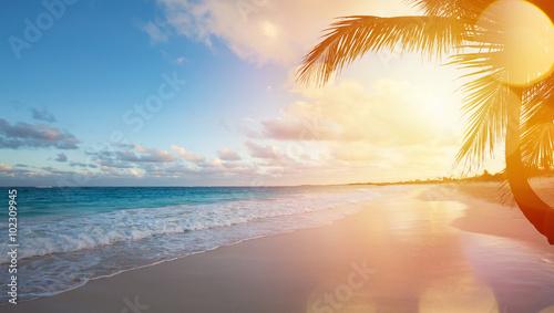 Canvas Print Art Summer vacation ocean beach