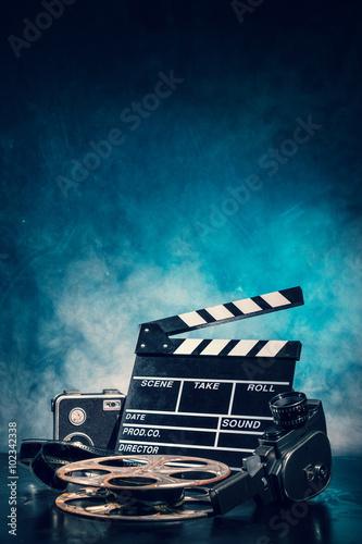 Retro film production accessories still life