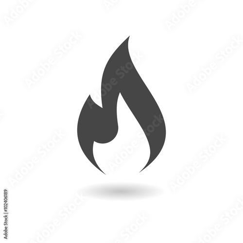 Gas Flame Icon Fototapet