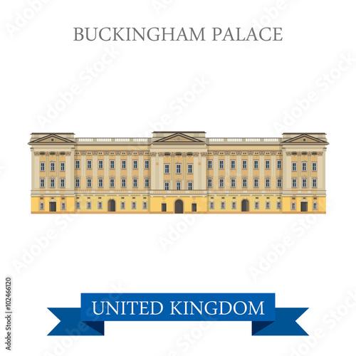 Canvas Print Buckingham Palace London Great Britain United Kingdom vector