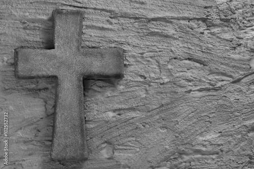 Canvas Print Stone cross