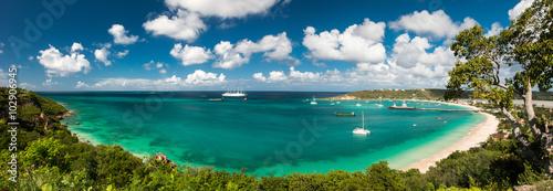 Fotografia Sandy ground, Anguilla island, Caribbean sea