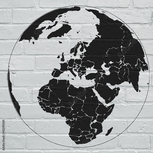 Lerretsbilde Planisphère street art