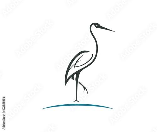 Canvas Print Stork logo