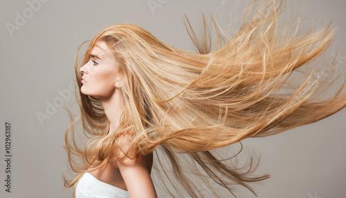Photo Beautiful healthy hair.