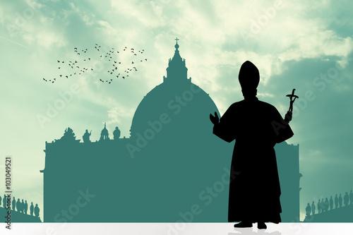Fotografia pope silhouette