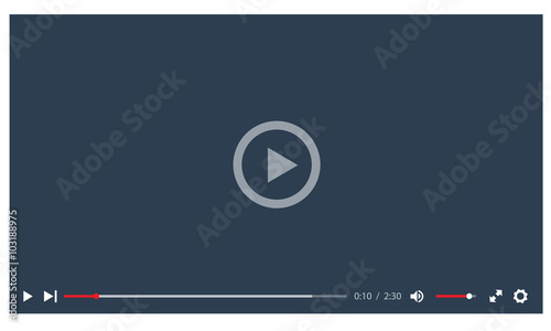 Fotografia Video player in a flat style. Ideal for web application