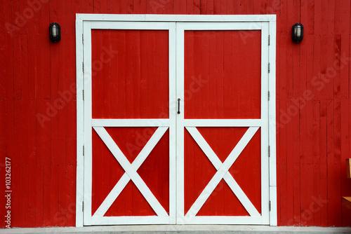 Photographie Red Barn Door