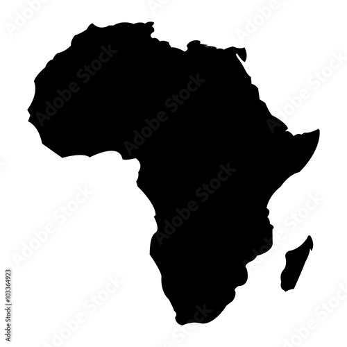 Canvas Print Map of Africa