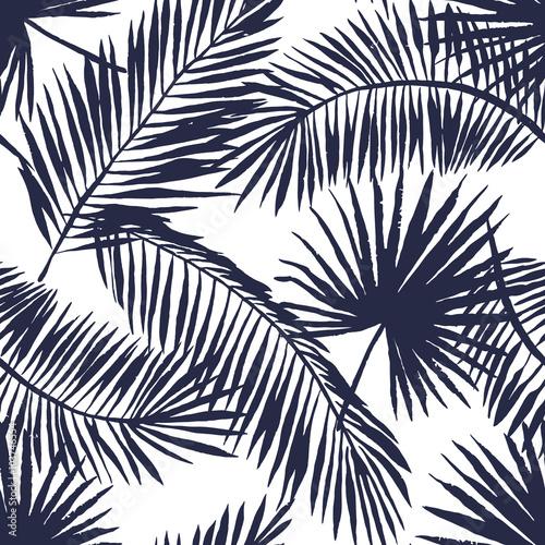 Naklejki na meble z liśćmi palmy na czarno białym tle
