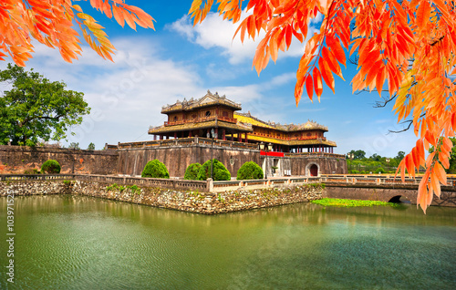 Leinwand Poster Eingang der Zitadelle, Farbe, Vietnam.