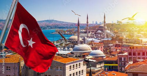 Istanbul the capital of Turkey, eastern tourist city. Fototapet