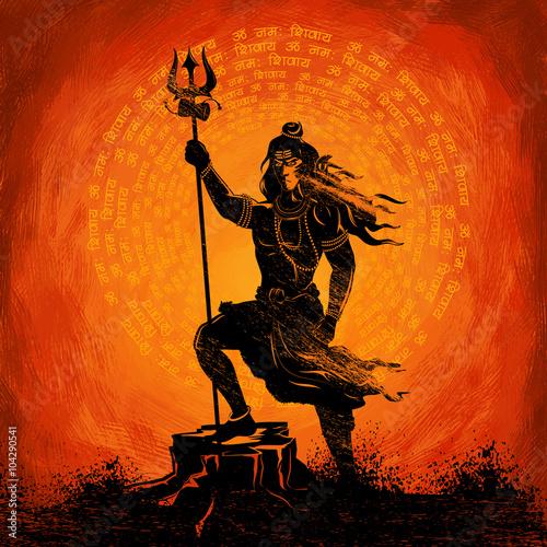 Canvas Print Lord Shiva Indian God of Hindu