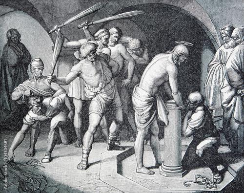 The Flagellation of Jesus lithography Fototapeta