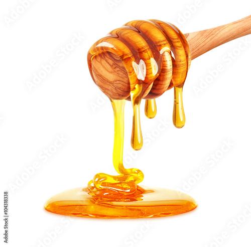 honey dripping isolated Fototapeta