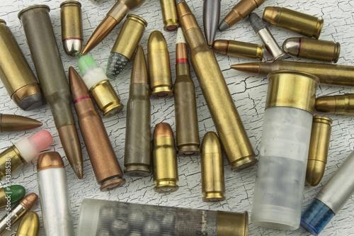 Slika na platnu Different types of ammunition