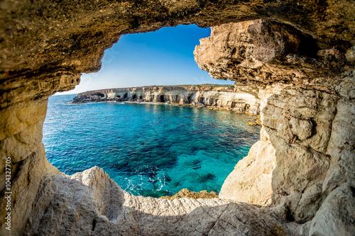 Fotomural Sea Caves near Ayia Napa, Cyprus