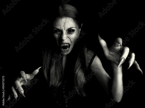Canvas Print devil vampire woman