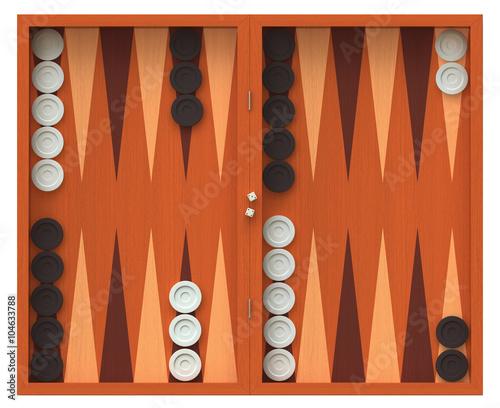 Tableau sur Toile Backgammon