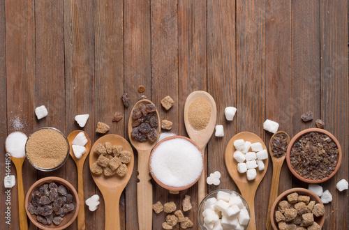 Obraz na plátně Různé druhy cukru