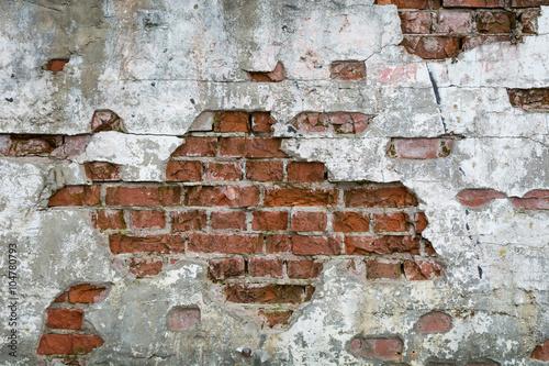 Fototapeta premium Stara cegła - ściana, mur