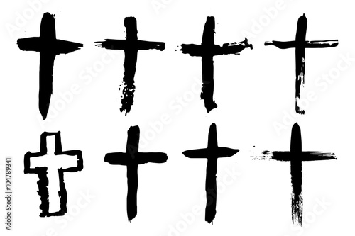 Abstract Cross or Crucifix - Hand Drawn Fototapete